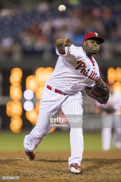 Philadelphia Phillies Hector Neris in action pitching vs Houston Astros at Citizens Bank Park Philadelphia PA CREDIT Al Tielemans