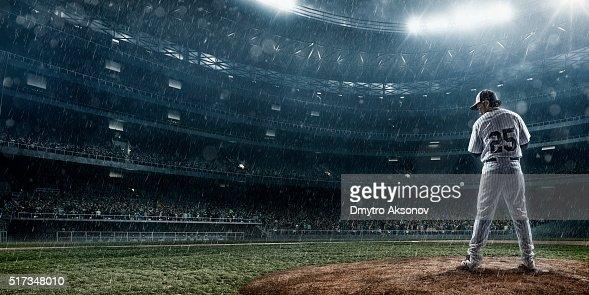 Lanceur de Baseball en action