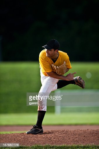 Baseball Pitcher - Live Game Action