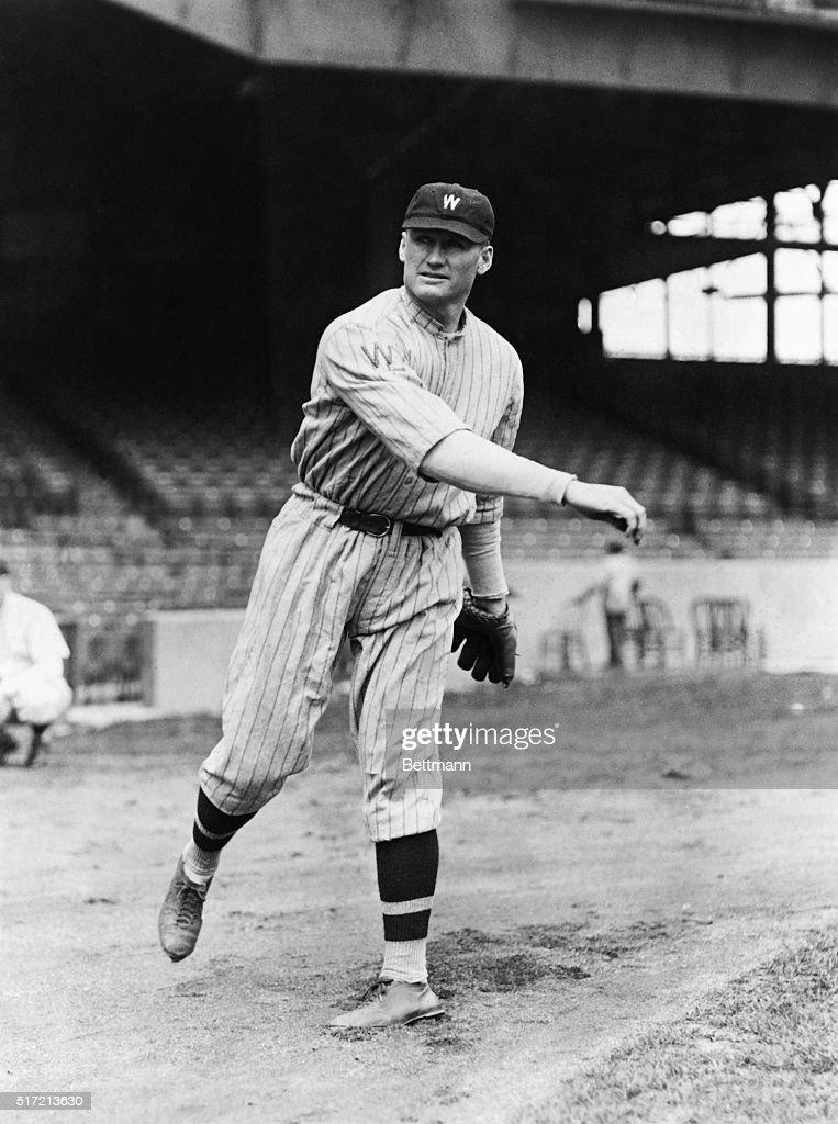 Baseball pitcher Walter Johnson of Washington Photograph 1924