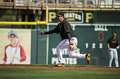 Pittsburgh Pirates Jung Ho Kang in action fielding during spring training workout at McKechnie Field Bradenton FL CREDIT Al Tielemans