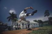 Baseball Pittsburgh Pirates Sam McDowell in action during spring training Bradenton FL 3/6/1974