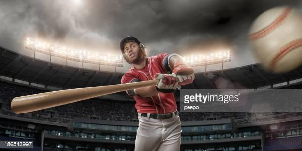 Jugador de béisbol por recorrer de béisbol
