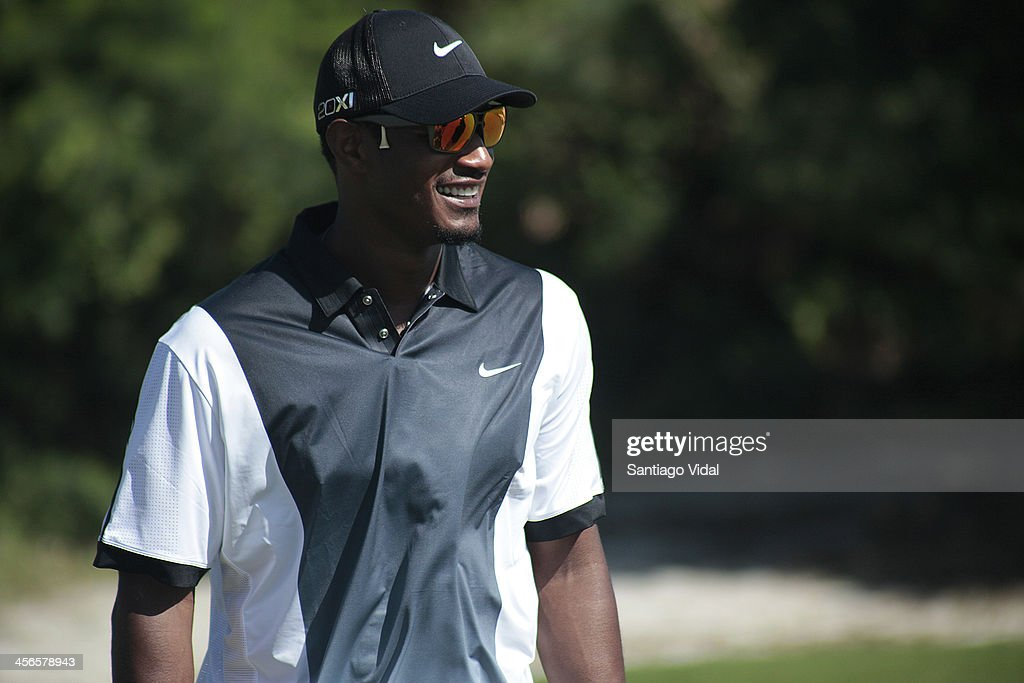 Baseball player Adam Jones during the David Ortiz 6th Celebrity Golf Classic at Punta Espada Golf Club on December 14, 2013 in Punta Cana, Dominican Republic.