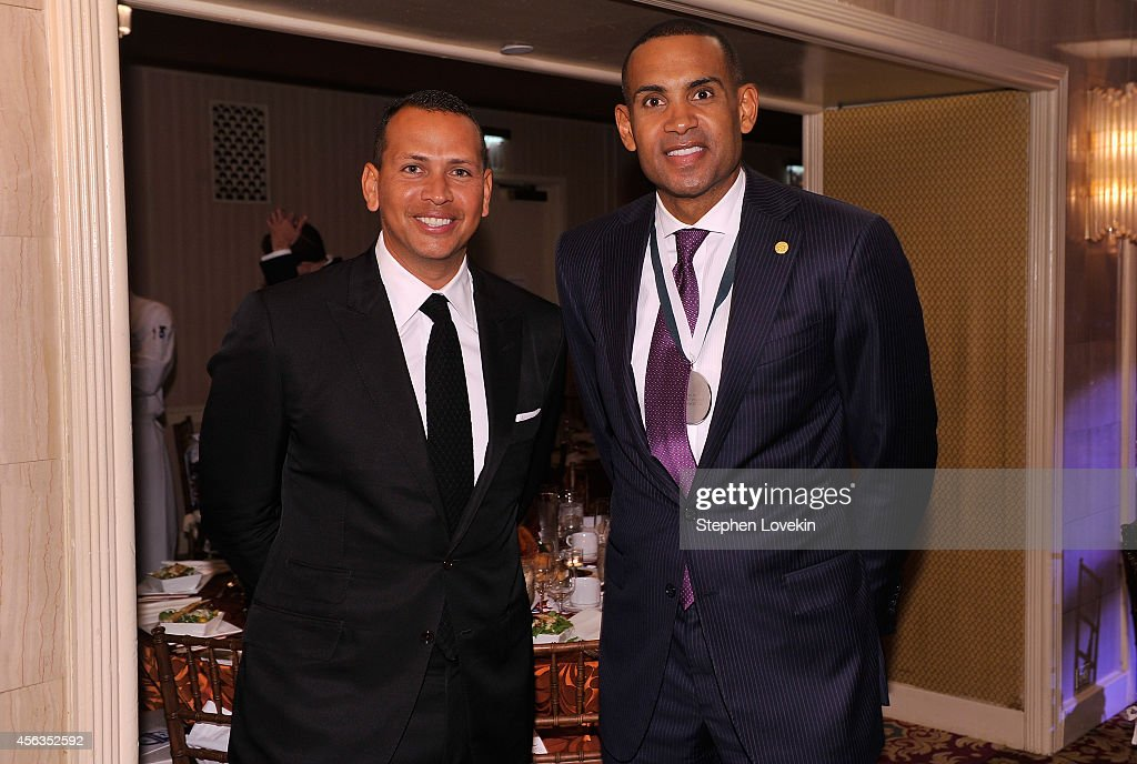 Baseball player <a gi-track='captionPersonalityLinkClicked' href=/galleries/search?phrase=Alex+Rodriguez+-+Baseball+Player&family=editorial&specificpeople=167080 ng-click='$event.stopPropagation()'>Alex Rodriguez</a> (L) and former basketball player <a gi-track='captionPersonalityLinkClicked' href=/galleries/search?phrase=Grant+Hill+-+Basketball+Player&family=editorial&specificpeople=201658 ng-click='$event.stopPropagation()'>Grant Hill</a> attend the 29th Annual Great Sports Legends Dinner to benefit The Buoniconti Fund to Cure Paralysis at The Waldorf Astoria on September 29, 2014 in New York City.
