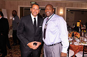 Baseball player Alex Rodriguez and former football player Warren Sapp attend the 29th Annual Great Sports Legends Dinner to benefit The Buoniconti...