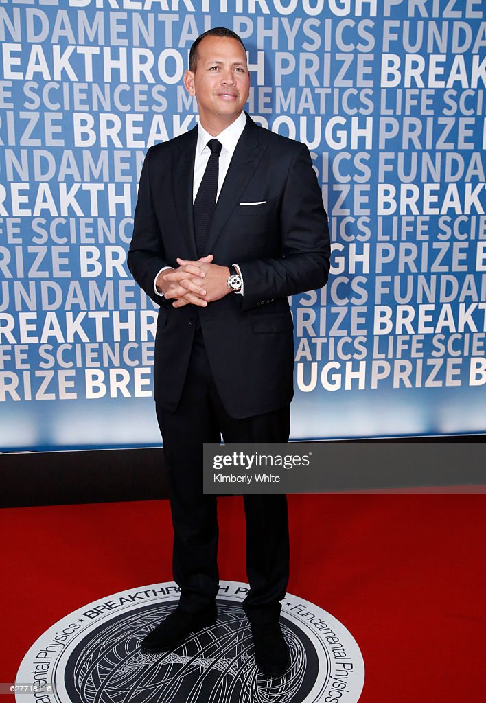 Baseball player Alex Rodriguez attends the 2017 Breakthrough Prize at NASA Ames Research Center on December 4, 2016 in Mountain View, California.