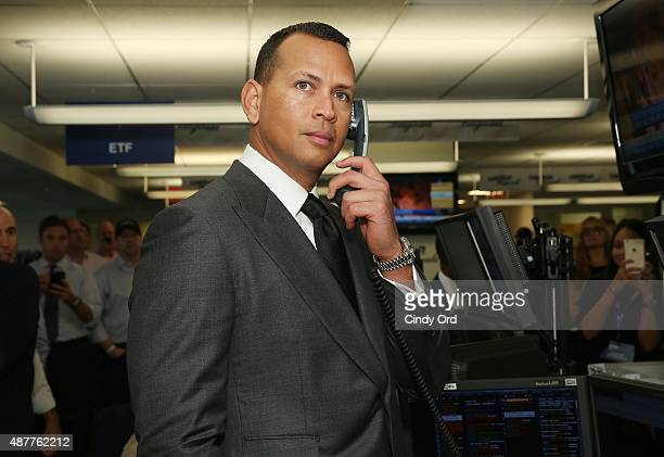 Baseball player Alex Rodriguez attends the annual Charity Day hosted by Cantor Fitzgerald and BGC at Cantor Fitzgerald on September 11 2015 in New...