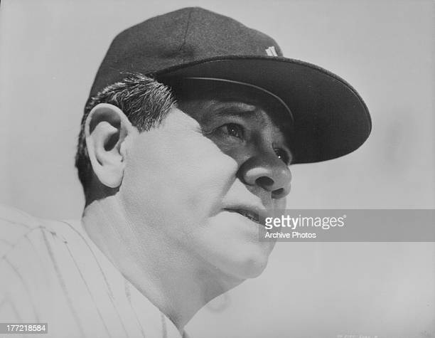 Baseball player Babe Ruth playing himself in the movie 'The Pride of the Yankees' 1942