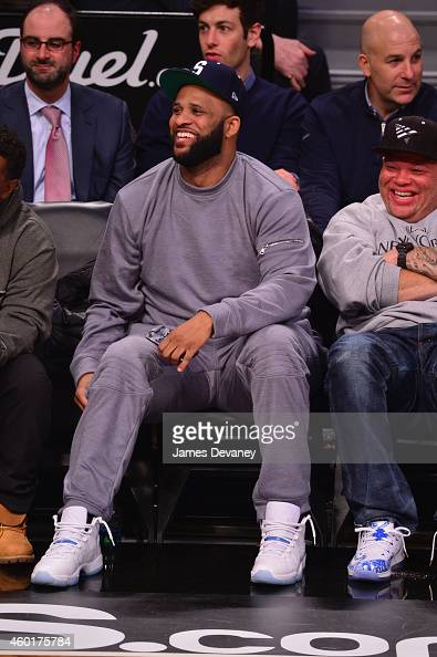 Baseball player CC Sabathia attends the Brooklyn Nets Vs Cleveland Cavaliers at Barclays Center on December 8 2014 in New York City