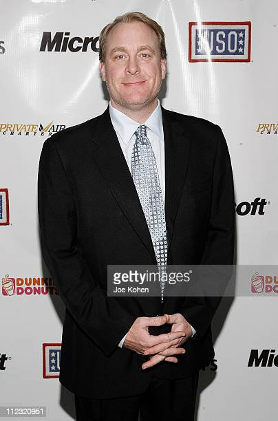 Baseball player Curt Schilling attends 'A Salute To Our troops' ceremony hosted by Microsoft Corporation and the United Service Organizations at...