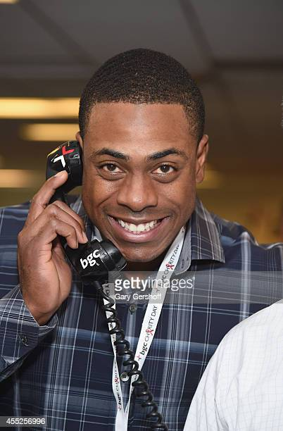 Baseball player Curtis Granderson attends Annual Charity Day Hosted by Cantor Fitzgerald and BGC at BGC Partners INC on September 11 2014 in New York...