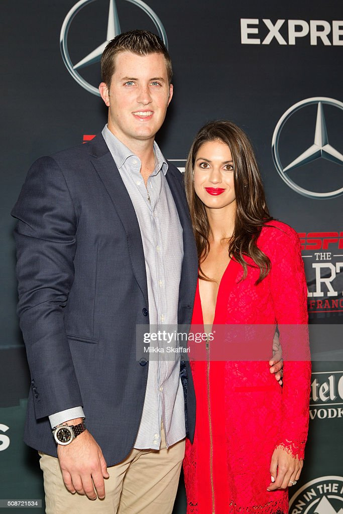 Baseball player Drew Pomeranz and Carolyn Esserman arrive at the annual ESPN The Party at Fort Mason Center on February 5, 2016 in San Francisco, California.