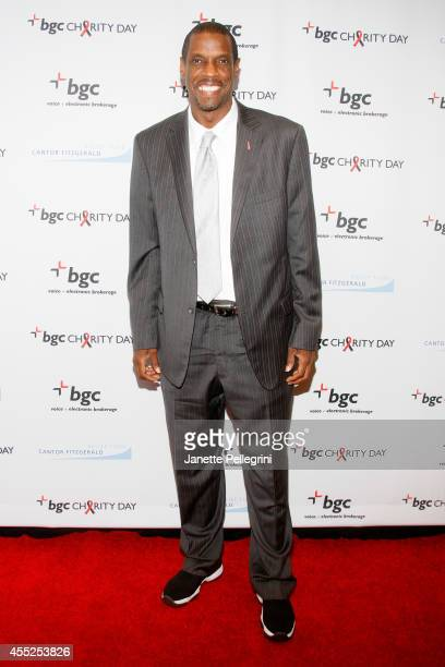 Baseball player Dwight Gooden attends Annual Charity Day Hosted By Cantor Fitzgerald And BGC at BGC Partners INC on September 11 2014 in New York City
