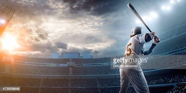Jugador de béisbol en el estadio