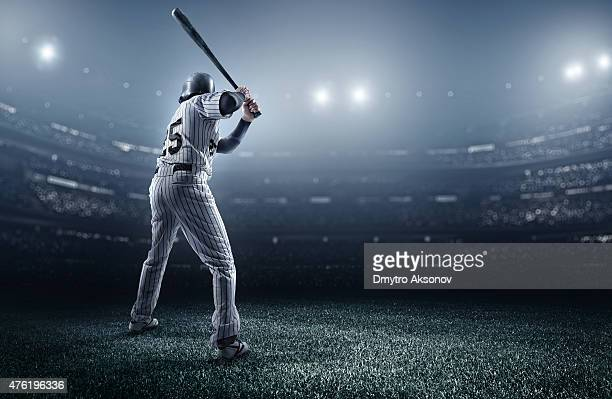 Baseball player in stadium
