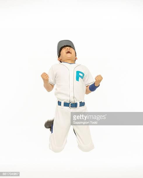 Baseball Player In Winning Pose