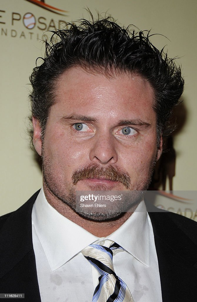 Baseball player Jason Giambi attends the 7th annual Jorge Posada Foundation Heroes of Hope Gala at The Pierre Hotel on June 16 2008 in New York City