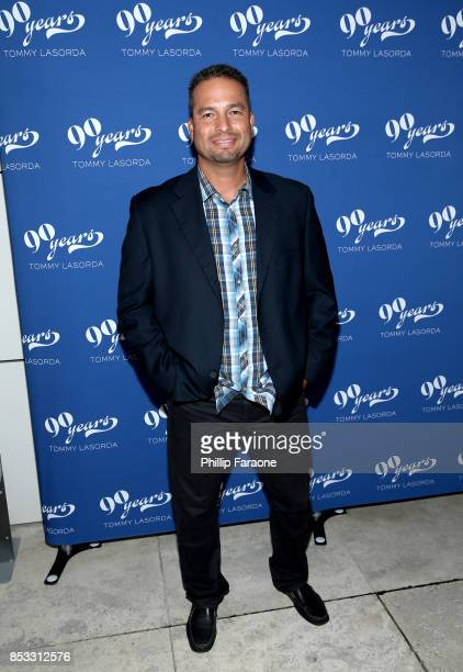 Baseball player Juan Castro at Tommy Lasorda's 90th Birthday Celebration at The Getty Center on September 24 2017 in Los Angeles California