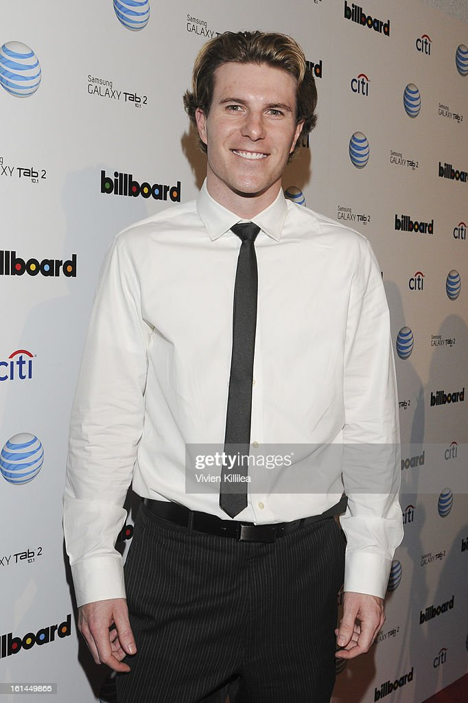 Baseball player Lance Broadway attends Citi And AT&T Present The Billboard After Party at The London Hotel on February 10, 2013 in West Hollywood, California.