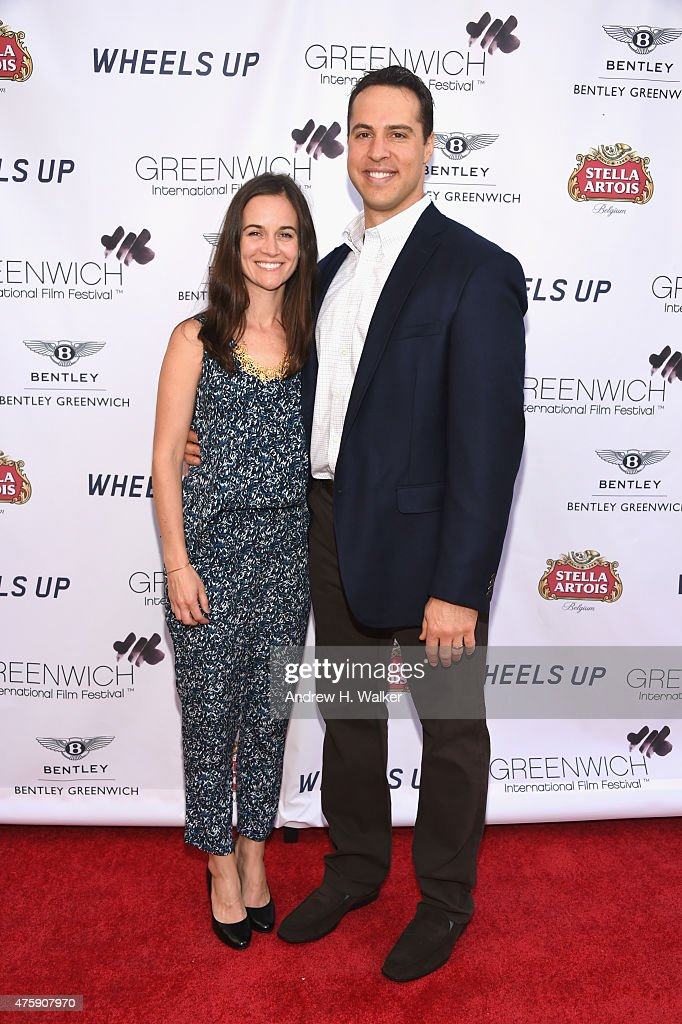 Baseball player Mark Teixeira (R) and Leigh Teixeira attend Greenwich Film Festival 2015 - Sports Guys On Sports Movies Premiere & After Party at Cole Auditorium at Greenwich Library on June 4, 2015 in Greenwich, Connecticut.