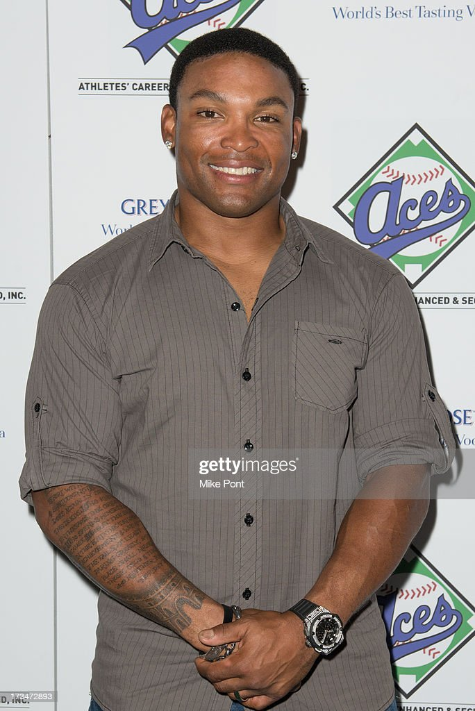 Baseball Player <a gi-track='captionPersonalityLinkClicked' href=/galleries/search?phrase=Marlon+Byrd&family=editorial&specificpeople=217377 ng-click='$event.stopPropagation()'>Marlon Byrd</a> attends the ACES Annual All Star Party at Marquee on July 14, 2013 in New York City.