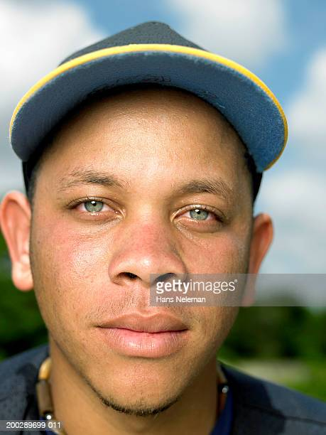 Baseball player, portrait, close-up