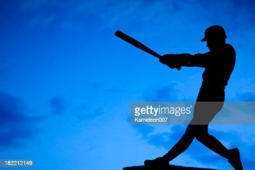 Silhueta de Jogador de basebol