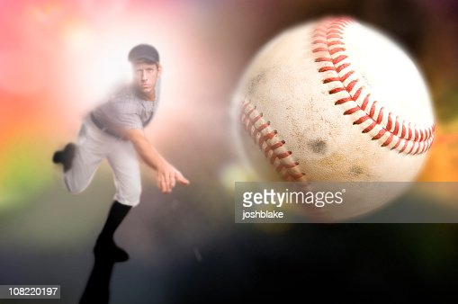 A baseball player throwing a ball