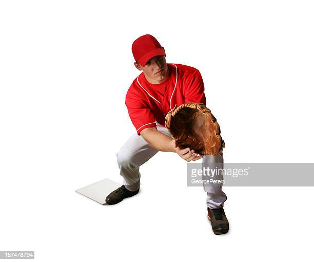 Baseball Player with Clipping Path