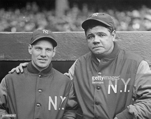 Baseball Players Leo Durocher and Babe Ruth