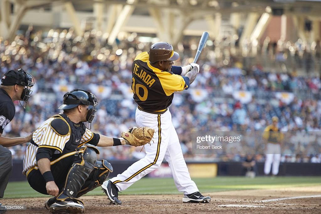 San Diego Padres Miguel Tejada in action at bat vs Pittsburgh Pirates San Diego CA 8/12/2010 CREDIT Robert Beck