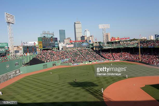 Scenic view of Fenway Park during Boston Red Sox vs Baltimore Orioles game Boston MA CREDIT Damian Strohmeyer