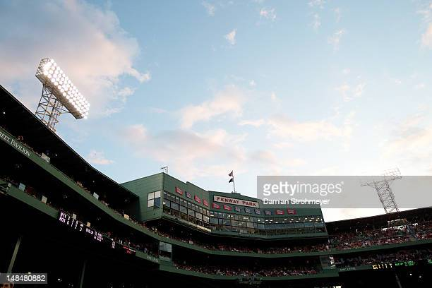 Scenic view of Fenway Park during game 2 of New York Yankees vs Boston Red Sox doubleheader Boston MA CREDIT Damian Strohmeyer
