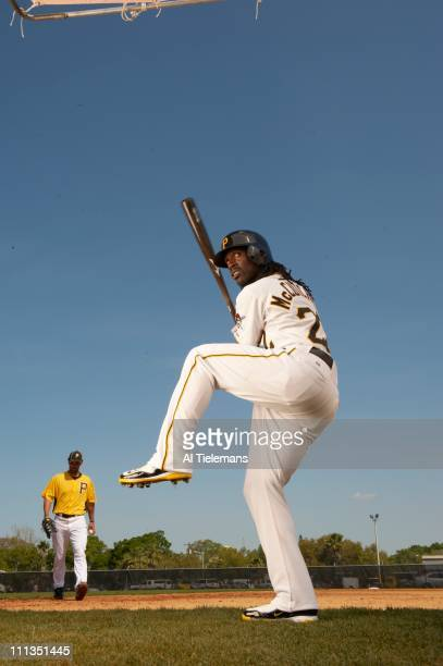 Season Preview Portrait of Pittsburgh Pirates outfielder Andrew McCutchen during spring training photo shoot at Pirate City complexBradenton FL...