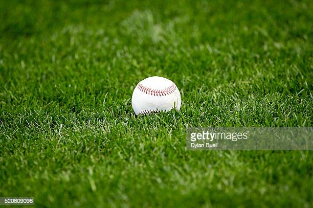 A baseball sits on the field before the game between the Houston Astros and Milwaukee Brewers at Miller Park on April 10 2016 in Milwaukee Wisconsin