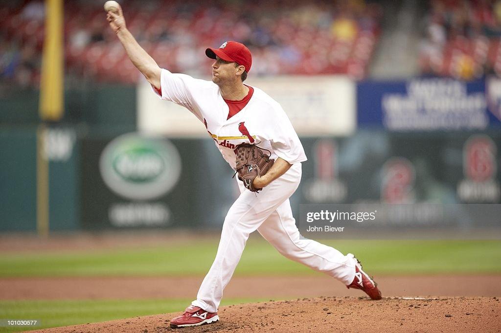 St. Louis Cardinals Adam Wainwright (50) in action, pitching vs Florida Marlins. St. Louis, MO 5/20/2010