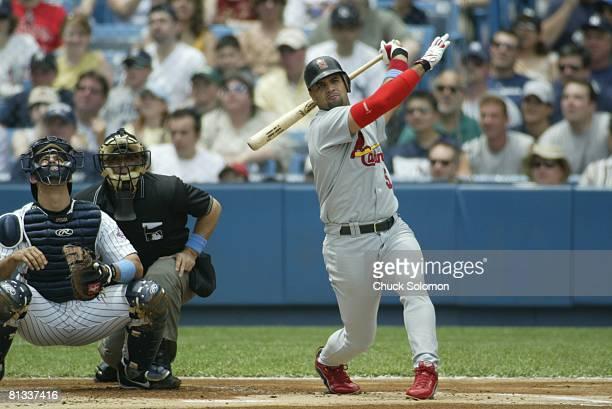 Baseball St Louis Cardinals Albert Pujols in action vs New York Yankees Bronx NY 6/15/2003