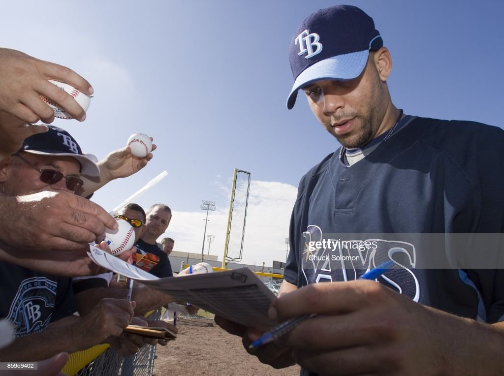 Tampa Bay Rays David Price signing autographs for fans during spring training workout at Charlotte Sports Park Port Charlotte FL 2/15/2009 CREDIT...