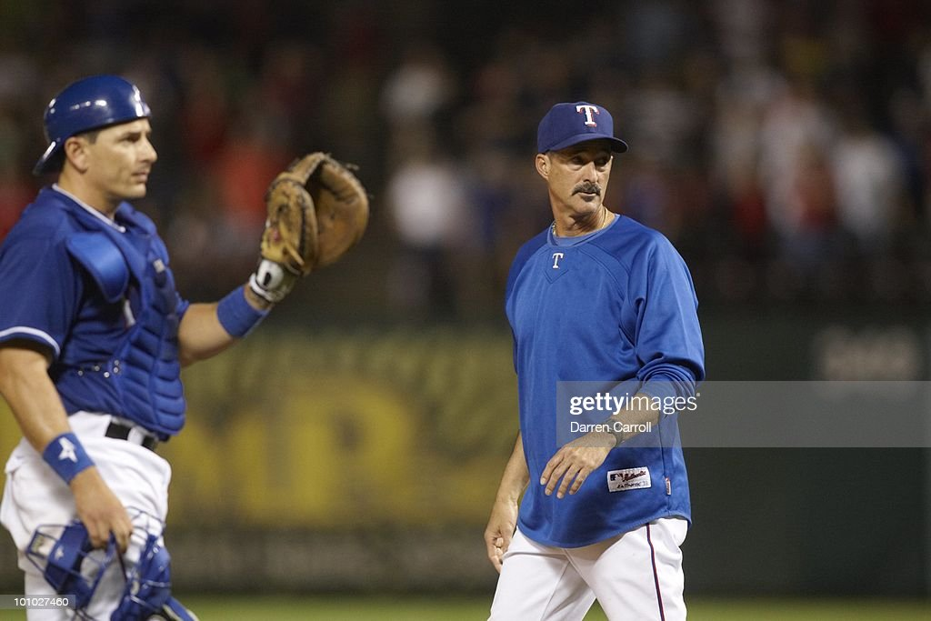 Texas Rangers pitching coach Mike Maddux during game vs Detroit Tigers. Arlington,TX 4/23/2010