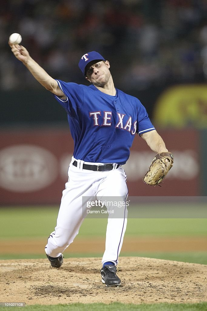 Texas Rangers Rich Harden (40) in action, pitching vs Detroit Tigers. Arlington,TX 4/23/2010