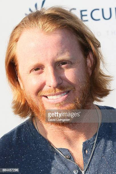Baseball third baseman Justin Turner arrives at the Los Angeles Dodgers Foundation Blue Diamond Gala at the Dodger Stadium on July 28 2016 in Los...