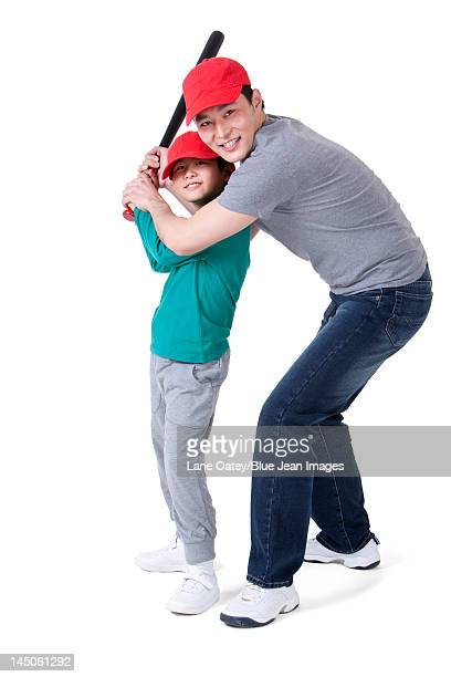 Baseball time between father and son