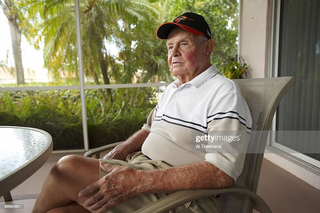 Portrait of Hall of Famer and former Baltimore Orioles manager Earl Weaver at home. Fort Lauderdale, FL 3/14/2009