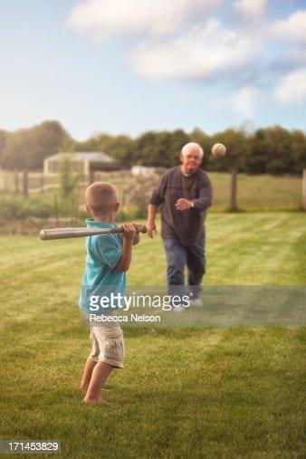 Baseball with Grandpa