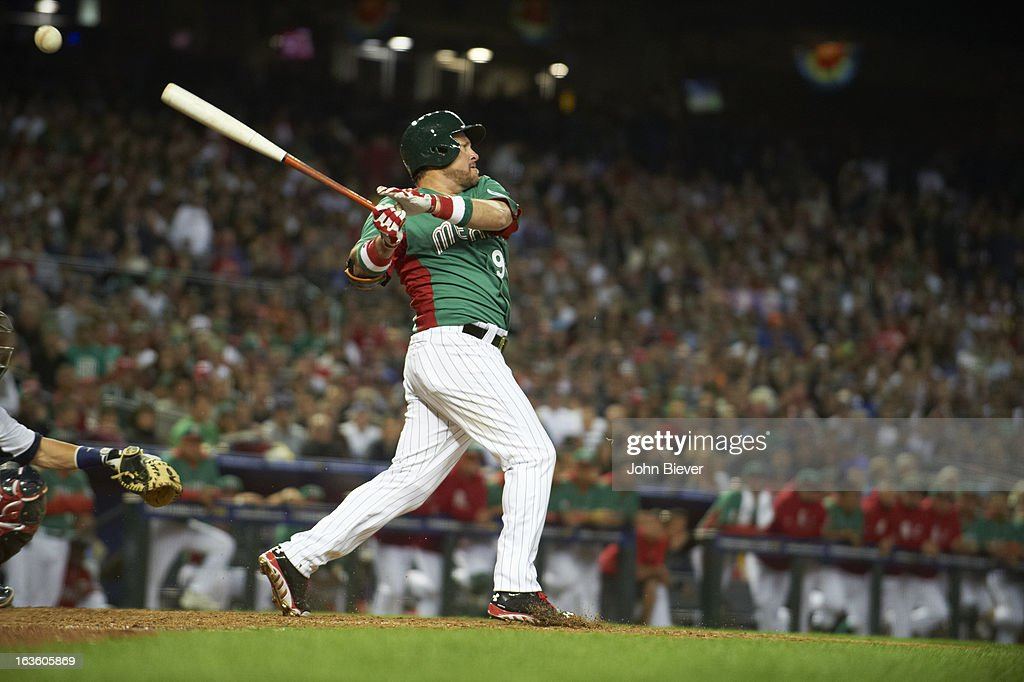 Team Mexico Karim Garcia (95) in action, at bat vs Team USA during First Round - Pool D game at Chase Field. John Biever F41 )