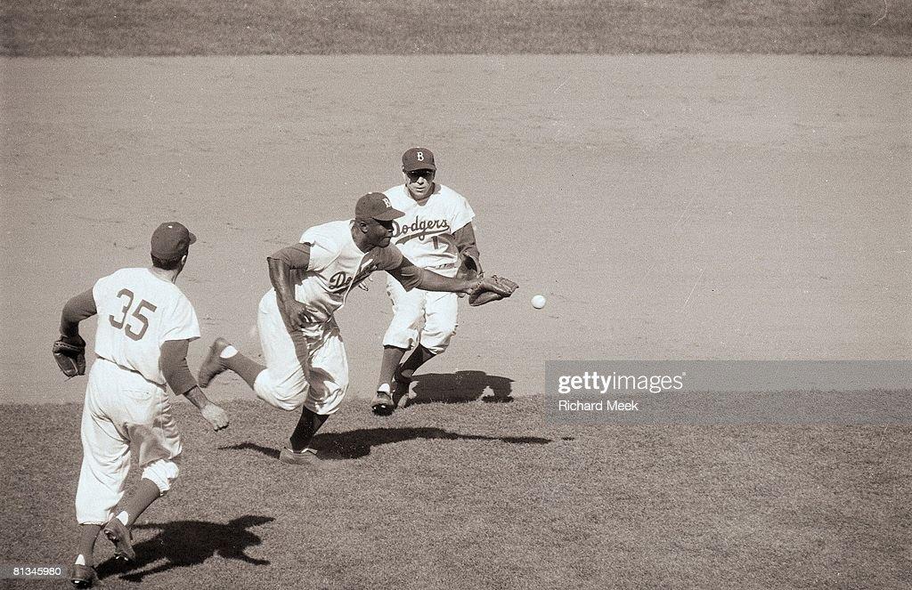 Brooklyn Dodgers Jackie Robinson 1956 World Series