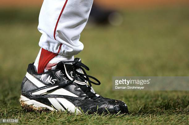 Baseball World Series Closeup of Boston Red Sox Curt Schilling's ankle with injury bleeding during game vs St Louis Cardinals Boston MA