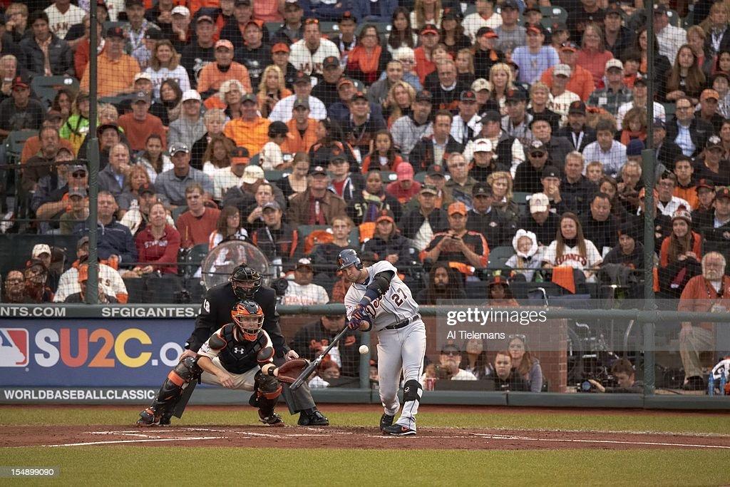 Detroit Tigers Jhonny Peralta (27) in action, at bat vs San Francisco Giants at AT&T Park. Game 1. Al Tielemans F208 )