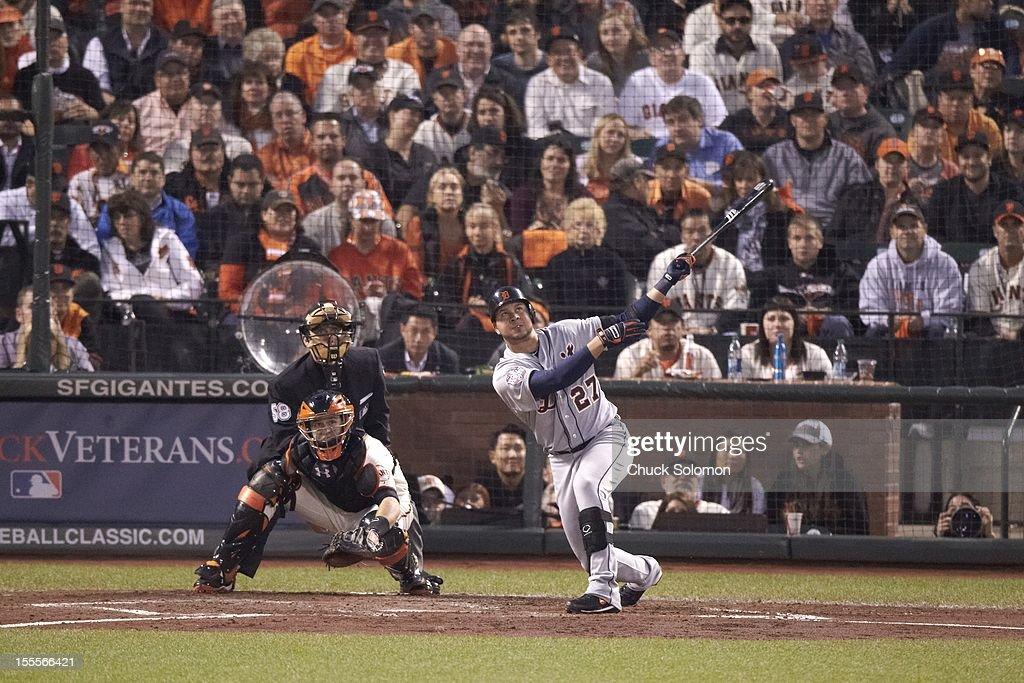 Detroit Tigers Jhonny Peralta (27) in action, at bat vs San Francisco Giants at AT&T Park. Game 2. Chuck Solomon F167 )